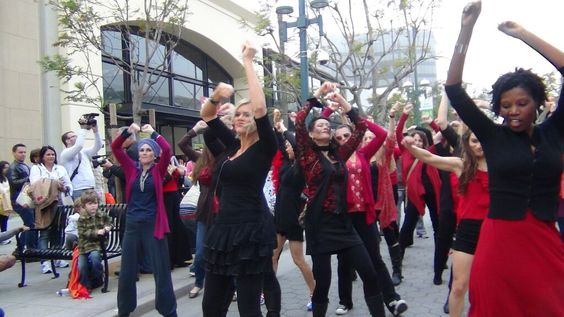 1billion rising flash mob, Santa Monica Promenade. Bucket list fulfilled, hope to flash mob more in 2013.