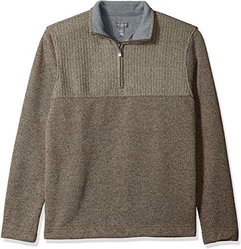 Van Heusen Mens Big and Tall Flex Long Sleeve 1//4 Zip Soft Sweater Fleece