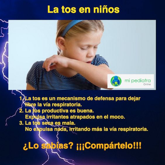 La tos en los niños es un mecanismo que tiene el cuerpo para garantizar que la vía aérea quede libre.Tipos de tos y cómo actuar.
