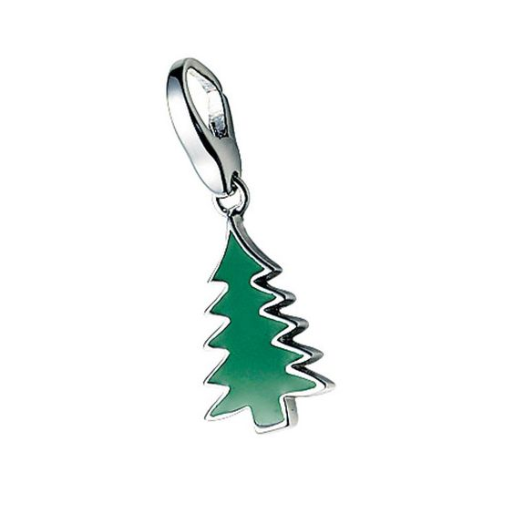 Silver Christmas Tree GC315 Giorgio Martello Charm. Trollbeads available from Identity The Jewellers at: http://www.identityonline.biz/products/Giorgio-Martello/276