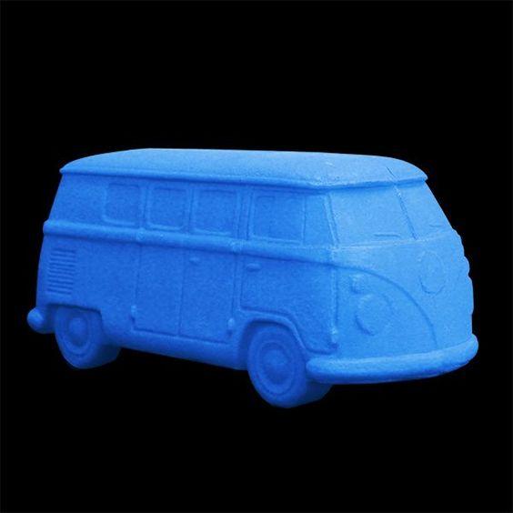 Abajur Kombi azul