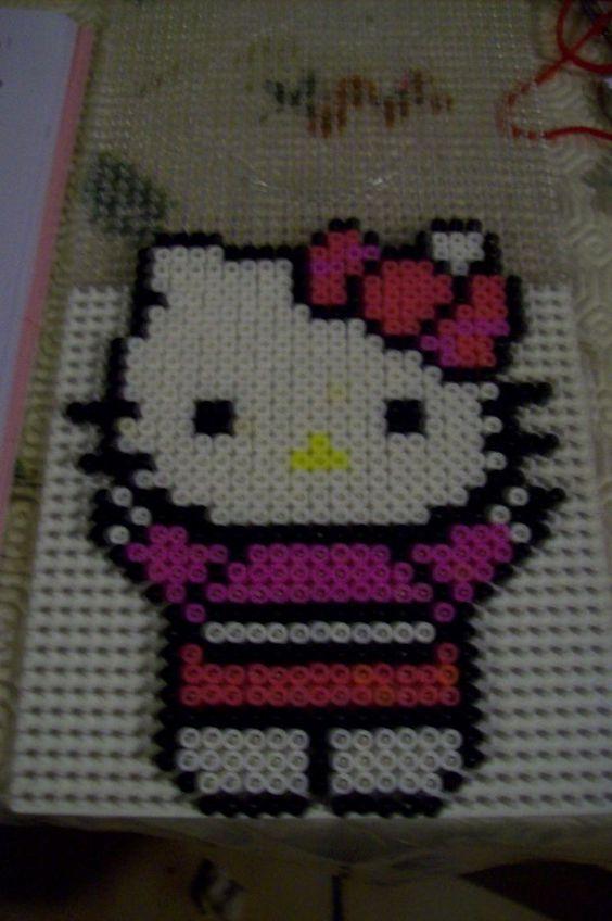 Image - hello kitty perle hama - mes créations pour le plaisir - Skyrock.com