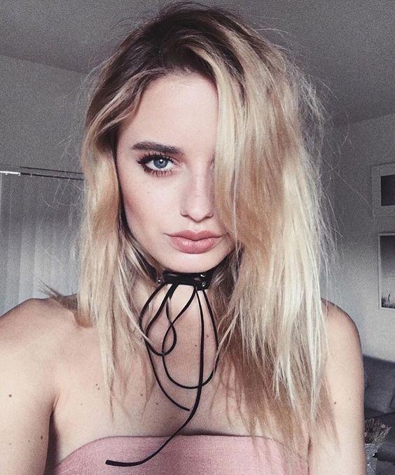 Blogger Sonya Esman wears CHOKEDBYATHREAD choker.: