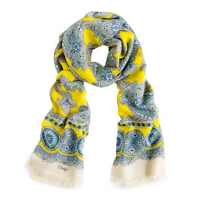 Drake's London® paisley scarf