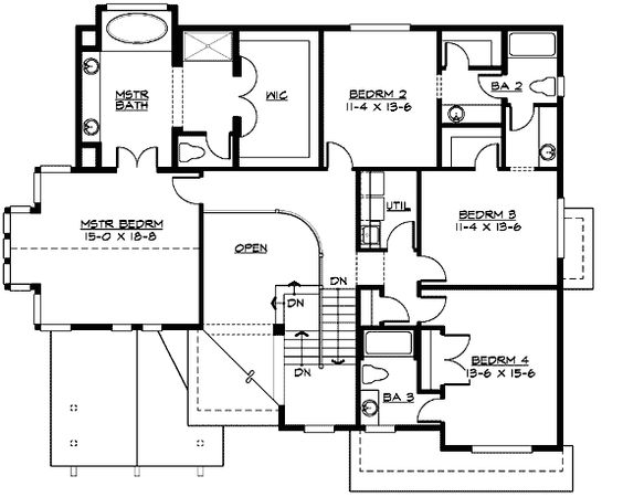 House plans garage and tandem on pinterest for Tandem garage house plans