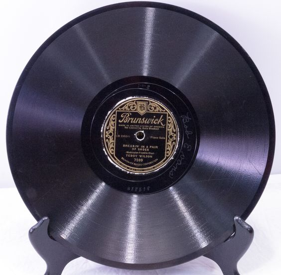 """1936 Brunswik 10"""" 78 Shellac Record - Teddy Wilson's Orchestra - Play-Rated as G (Good) - Only $2.95"""