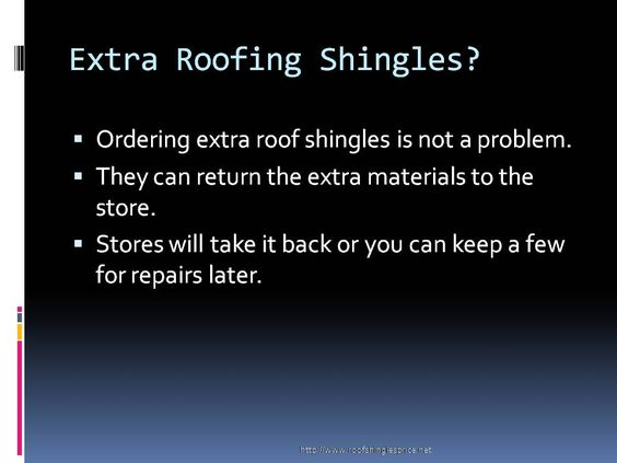 This report on roof shingles calculator helps homeowners to know how much roof shingles they need for a roofing job. It is simple and easy to understand. For more such reports and articles please visit http://www.roofshinglesprice.net. The author contributes to the site RoofShinglesPrice.Net