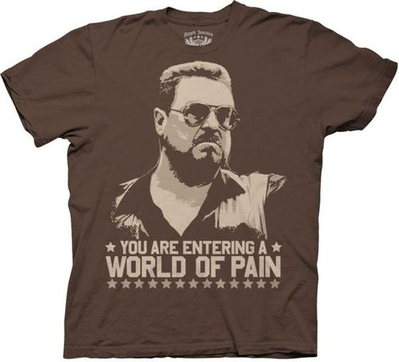 Big-Lebowski-The-Dude-World-Of-Pain-New-Licensed-Adult-T-Shirt-S-M-L-XL-XXL
