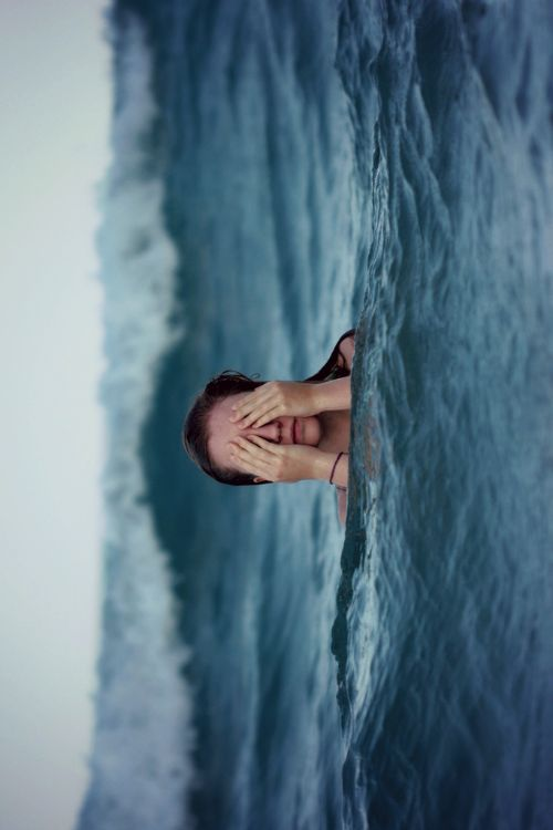 in the water: