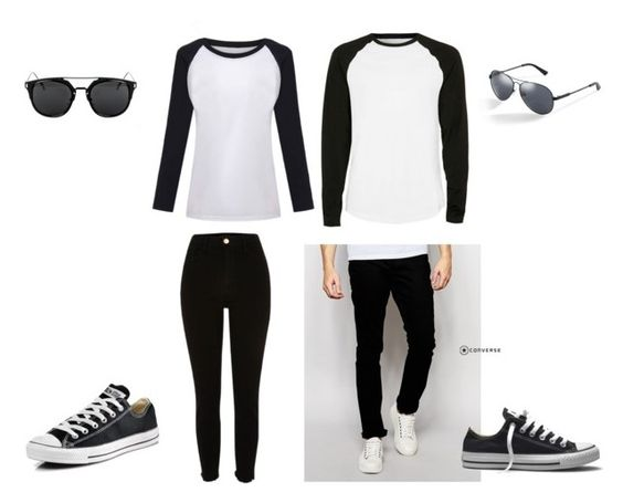 """matching again"" by chaimae-megherbi on Polyvore featuring mode, Bellfield, Converse, Topman et GUESS"