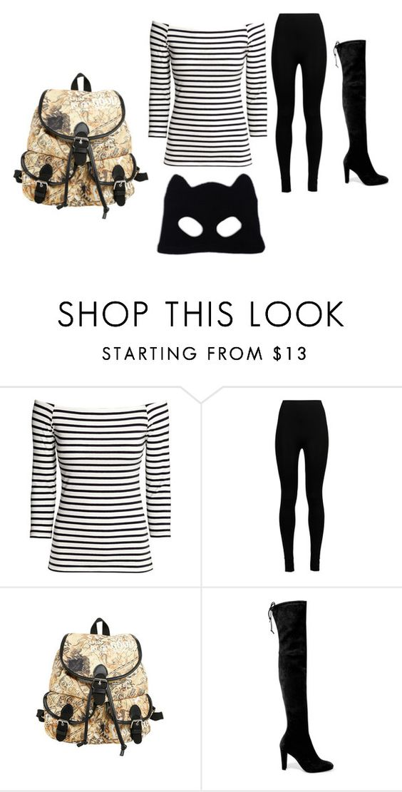 """""""robber"""" by lauren53103 on Polyvore featuring H&M, Wolford, Stuart Weitzman, Silver Spoon Attire, Costume and robber"""