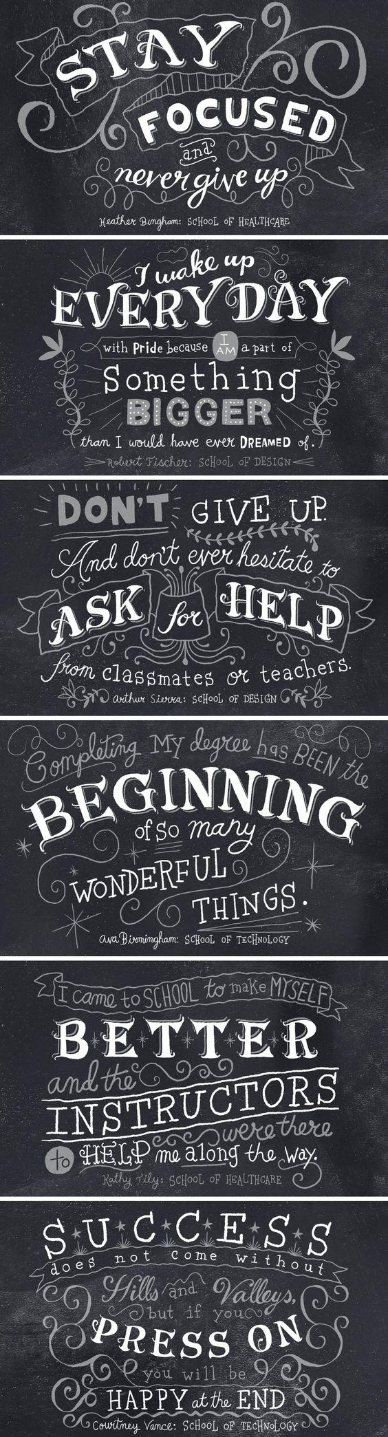 Ilustraciones tipográficas a través de diferentes tipos realizadas a mano http://www.n8w.com/gallery/tags/lettering