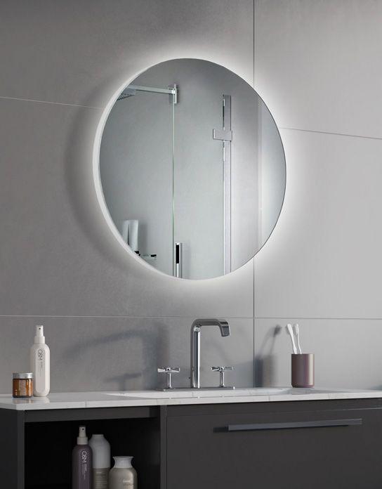 Lustro Lazienkowe Syriusz Led Z Oswietleniem Led Bathroom Mirror Mirror Round Mirror Bathroom