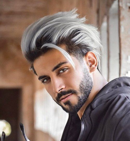 Thoughts On This Style 22haircuts Of The Week White Hair Men Men Hair Color Men Hair Highlights