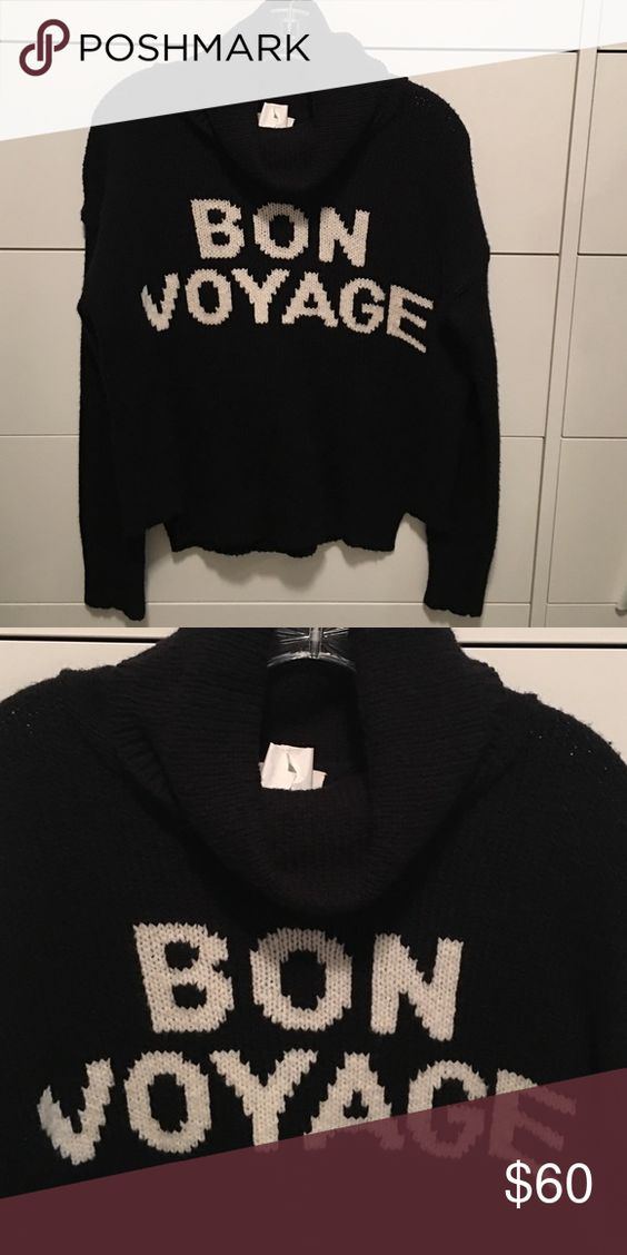 "Cowl neck ""Bon voyage"" sweater Excellent condition Madewell Sweaters Cowl & Turtlenecks"