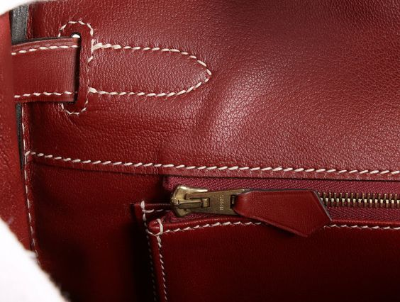 Hermès Rouge H Veau Chamonix 30 Cm Birkin Bag