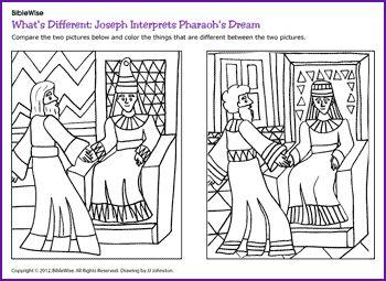 Joseph Interprets Pharaohs Dream Coloring Page Joseph Interprets ...