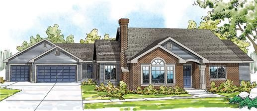 Great ranch house plan with mother in law or guest wing for House plans with mother in law wing