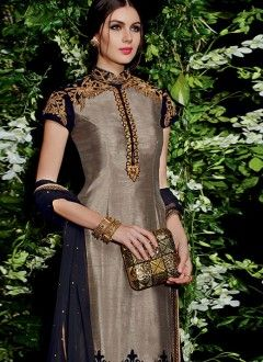 pakistani salwar kameez designs 2015 raw silk material - Google