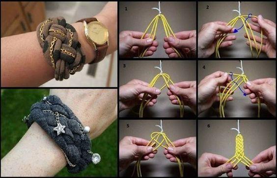 T-shirt Knotted Bracelet :D