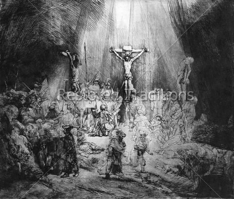 Three Crosses – Rembrandt (With Images) Rembrandt Paintings