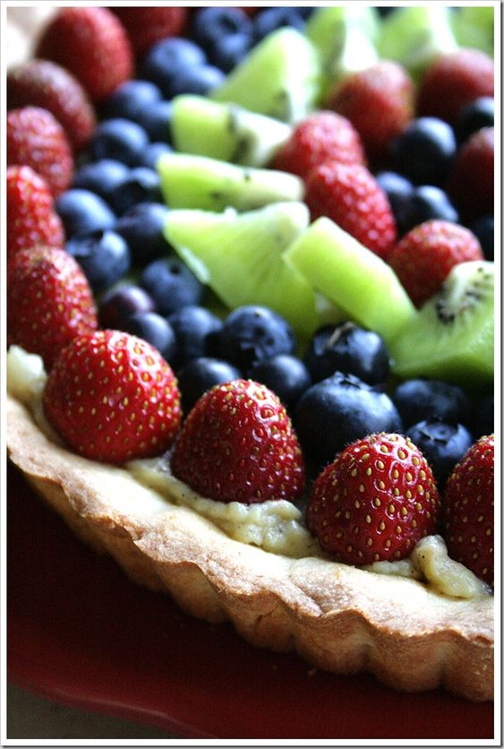 Vanilla and Almond Fresh Fruit Tart   Recipe   Fruit Tarts, Fresh ...
