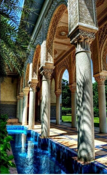 Enchanting Moroccan courtyard. I can hear the birds chirping... #Moroccan #Courtyard.