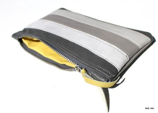 Gra Clutch Taske I Skind Grey Clutch Bag Udsalg With Images Grey Clutch Bags Leather Accessories Handmade Leather Accessories