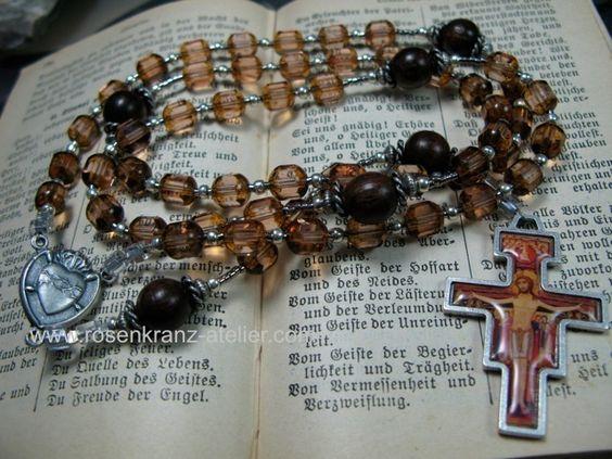 San Damiano rosary  http://de.dawanda.com/product/43682546-Rosenkranz-San-Damiano