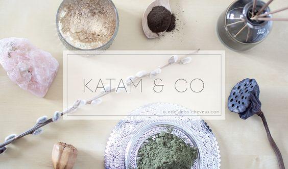 Journal capillaire d'Edelweiss : Coloration au katam et brou de noix : avant/après