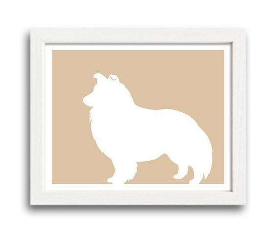 Shetland Sheepdog Print  Shetland Sheepdog by MillerSyeShadows, $12.00