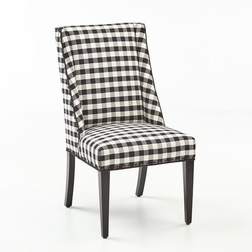 Owen Black And White Buffalo Check Dining Chair Dining Room Chairs Upholstered Leather Dining Room Chairs White Dining Chairs