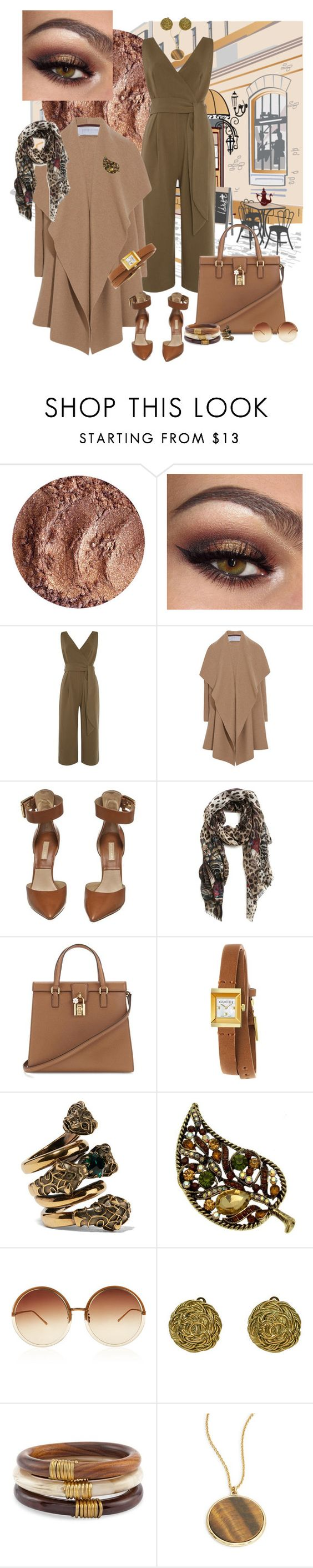 """""""Earth Tones in the Afternoon"""" by anitamauro ❤ liked on Polyvore featuring Lost Ink, Harris Wharf London, Michael Kors, Dolce&Gabbana, Gucci, Linda Farrow, Chico's and Lauren Ralph Lauren"""