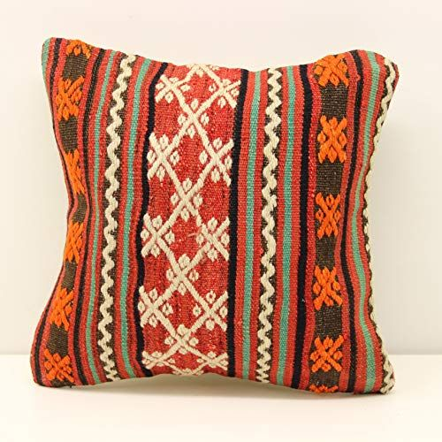 Handwoven Kilim pillow 14x14 Inch