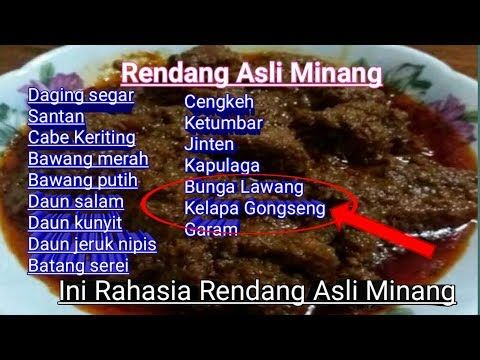 Bumbu Rahasia Rendang Asli Minang Resep Rendang Asli Padang Youtube Kota Padang Resep Daging Resep