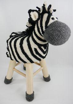 Dieren kruk zebra. Haakpret: