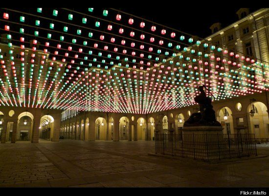Christmas the city of Turin presents Luci d'Artista, an installation of art exhibits using light as the medium. The displays transform the streets of the city into a magical, other wordly place.