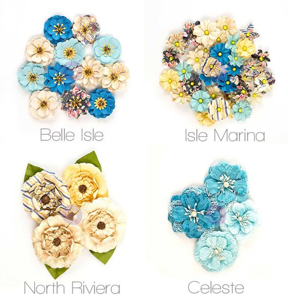 Prima flowers are always the highlight of any new collection! St. Tropez is no exception. You can choose from eight unique flower packs to create the look that you want. Nobody will judge if you choose all eight!! #sea #ocean #frankgarcia #primaflowers