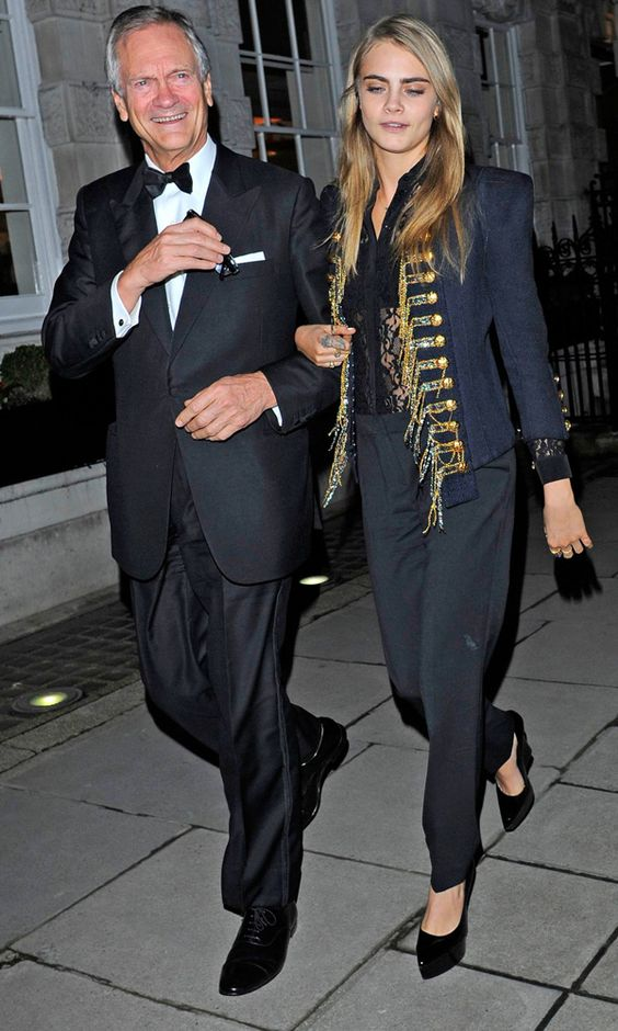 Cara Delevingne Shuns New York Fashion Week For Some Father-Daughter Time In London  The 21-year-old model spent the evening with her Dad, Charles Delevingne, at charity auction