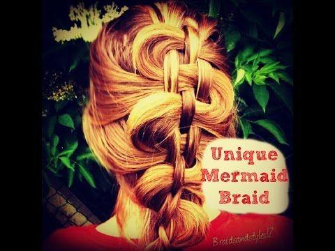 4 STRAND WOVEN MERMAID BRAID HAIR TUTORIAL - MEDIUM TO LONG HAIR - YouTube