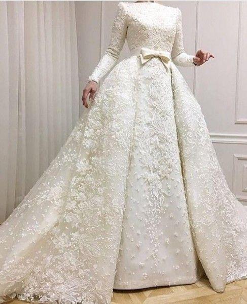 صور للمحجبات فساتين زفاف عملية دنيا الوطن Online Wedding Dress Wedding Dress Long Sleeve Wedding Dresses