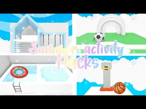 Summer Activity Build Hacks Adopt Me Building Hacks Official Pineapples Youtube Animal Room Cool House Designs Cute Room Ideas