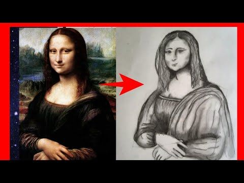 Mona Lisa Drawing With Pencil Easy Way To Draw رسم بالرصاص لأشهر لوحة لوحة الموناليزا Youtube Mona Lisa Drawing Funny Drawings Mona Lisa