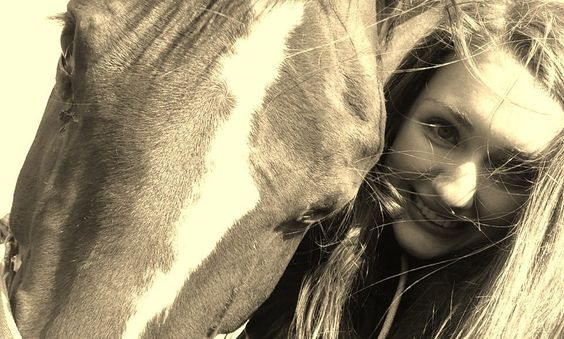 My horse Bamatto and me.