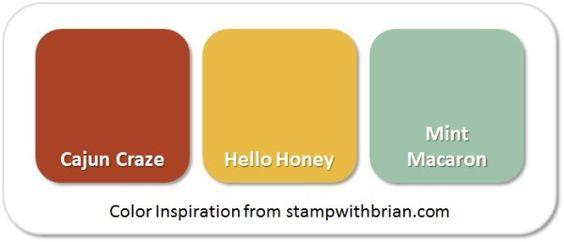 Stampin' Up! Color Inspiration: Cajun Craze, Hello Honey, Mint Macaron: