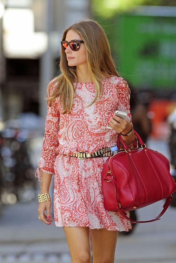 超时尚的Paisley佩斯利图案女士印花裙 低至四折!