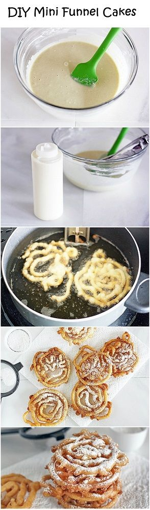 DIY Mini Funnel Cakes - because the fair only comes once a year and my aunt may die from withdrawal