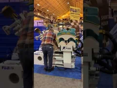 Shirt Body Pressing Machine In Finishing Laundry