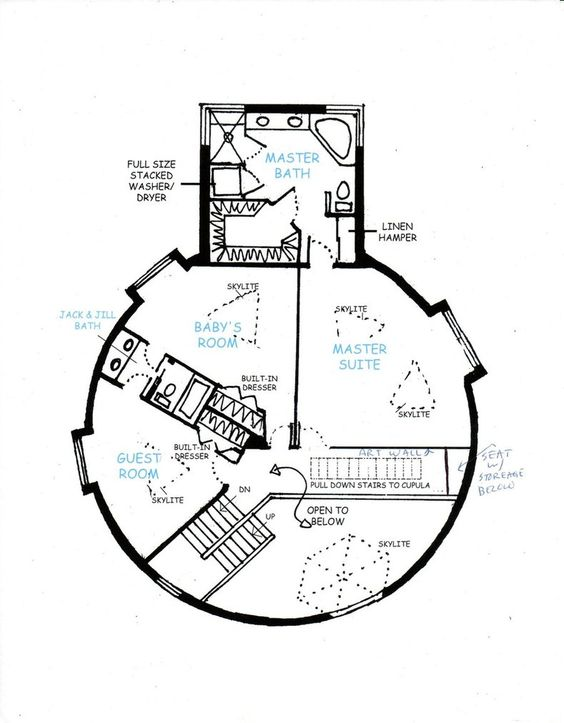 geodesic dome homes floor plans | Geodesic Dome Home 2nd Floor by ...