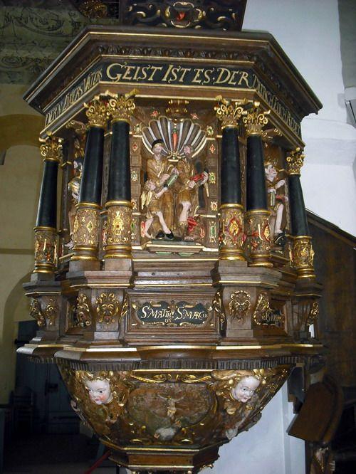 Kanzel der  Kirche St. Matthäus in Rodenkirchen:
